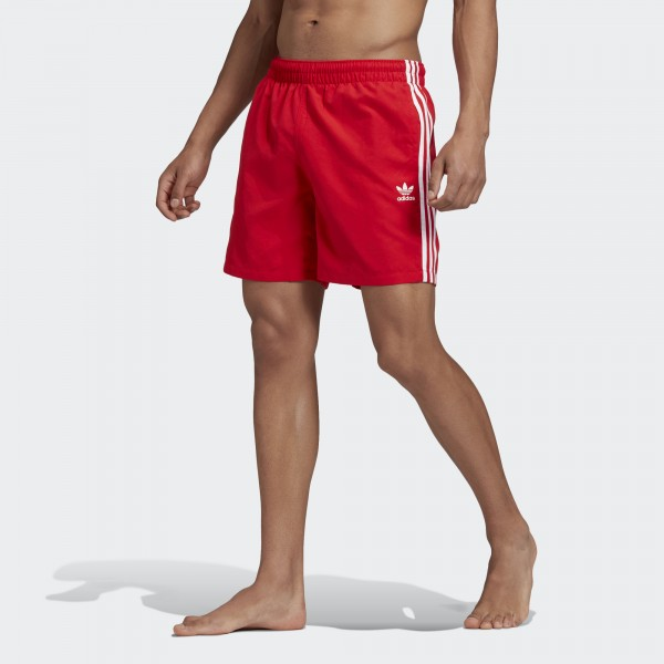 3-STRIPES SWIM SHORTS RAUÐAR