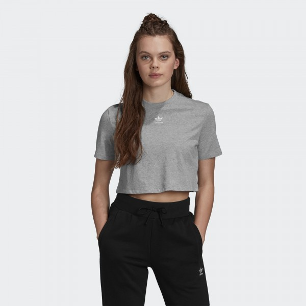TREFOIL ESSENTIALS CROPPED BOLUR GRÁR