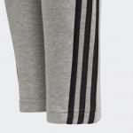 3-Stripes Doubleknit Tapered Leg buxur gráar