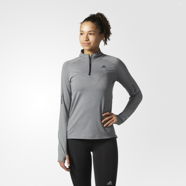 WOMEN'S SUPERNOVA 1/2 ZIP LONG SLEEVE TEE