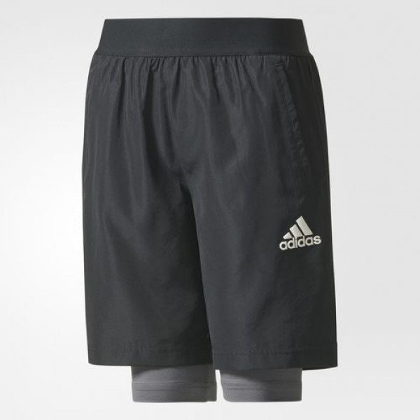 TWO-IN-ONE FOOTBALL SHORTS