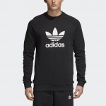 MEN'S TREFOIL WARM-UP CREW SWEATSHIRT