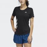 RUN IT 3-STRIPES FAST T-SHIRT SVARTUR